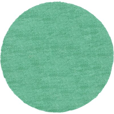 Evelyn Feldspar Green Area Rug Rug Size: Round 8