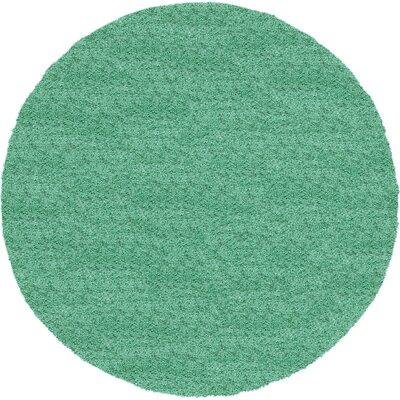 Evelyn Feldspar Green Area Rug Rug Size: Round 6