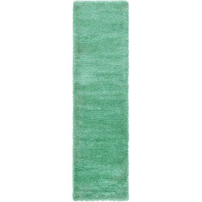 Evelyn Feldspar Green Area Rug Rug Size: Runner 27 x 10