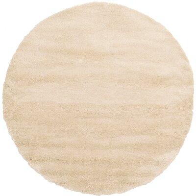 Evelyn Ivory Area Rug Rug Size: Round 8