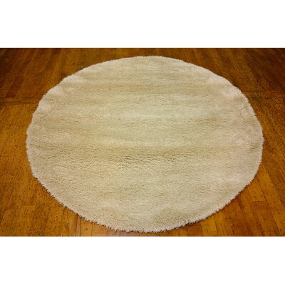 Evelyn Ivory Area Rug Rug Size: Round 6