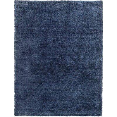 Evelyn Navy Blue Area Rug Rug Size: 5 x 8