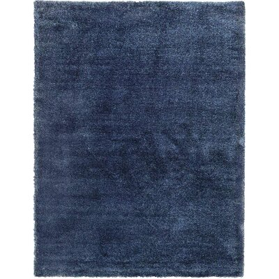 Evelyn Navy Blue Area Rug Rug Size: 7 x 10