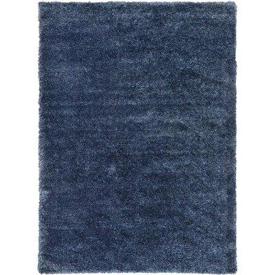 Evelyn Navy Blue Area Rug Rug Size: 33 x 53