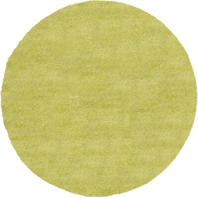 Evelyn Cedar Green Area Rug Rug Size: Round 8