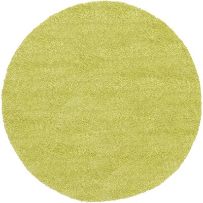 Evelyn Cedar Green Area Rug Rug Size: Round 6