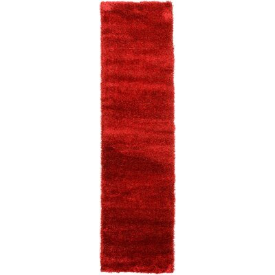 Evelyn Red Area Rug Rug Size: Runner 27 x 10