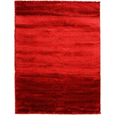 Evelyn Red Area Rug Rug Size: Square 8