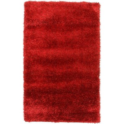Evelyn Red Area Rug Rug Size: 33 x 53