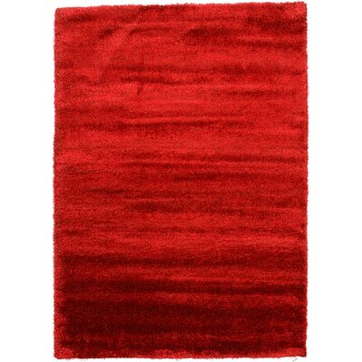 Evelyn Red Area Rug Rug Size: Rectangle 7 x 10