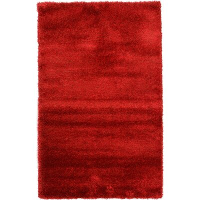 Evelyn Red Area Rug Rug Size: 5 x 8