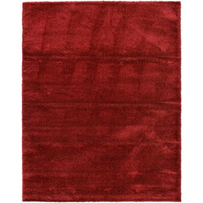 Evelyn Red Area Rug Rug Size: 10 x 13
