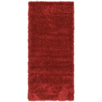 Evelyn Red Area Rug Rug Size: Runner 27 x 6