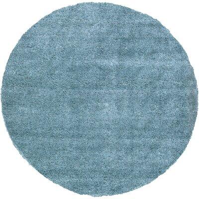 Evelyn Light Blue Area Rug Rug Size: Round 6