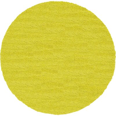 Evelyn Yellow Area Rug Rug Size: Round 8