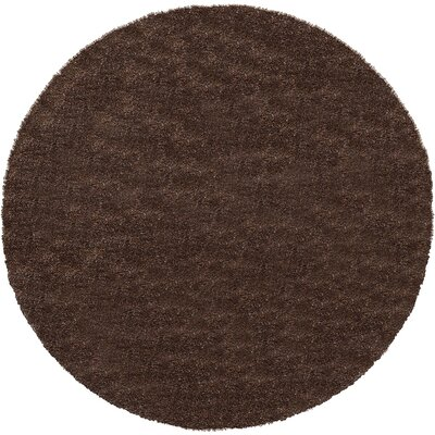 Evelyn Pinecone Brown Area Rug Rug Size: Round 8