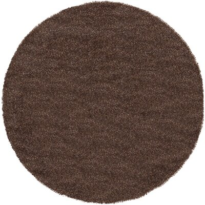 Evelyn Pinecone Brown Area Rug Rug Size: Round 6