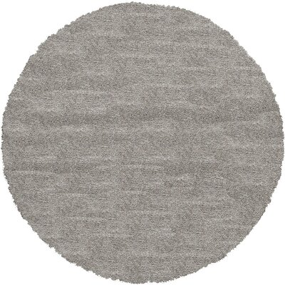 Evelyn Gray Area Rug Rug Size: Round 8