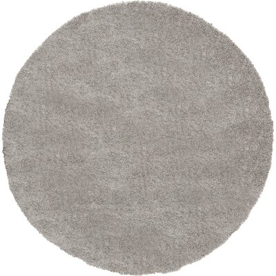 Evelyn Gray Area Rug Rug Size: Round 6