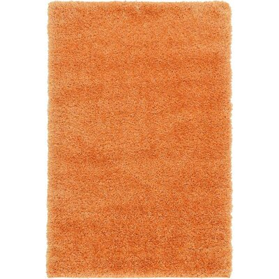 Evelyn Orange Area Rug Rug Size: Rectangle 33 x 53