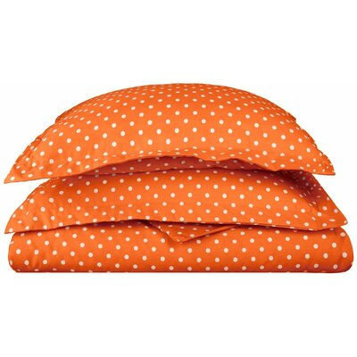 Marshall Duvet Cover Set Color: Orange, Size: King/California King