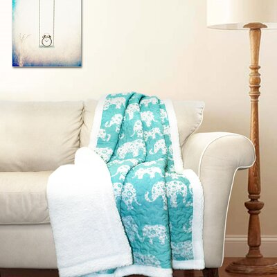 Hector Sherpa Throw Blanket Color: Aqua