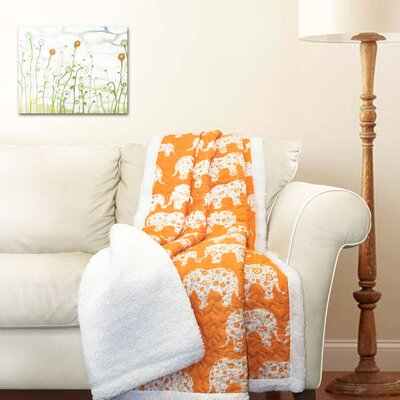 Hector Sherpa Throw Blanket Color: Tangerine
