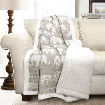 Hector Sherpa Throw Blanket Color: Gray