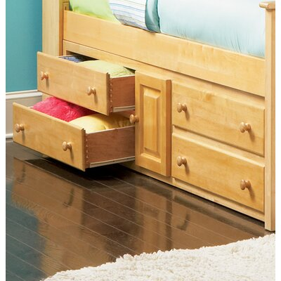 Henry Underbed Four Drawer Storage Chest in Natural Maple