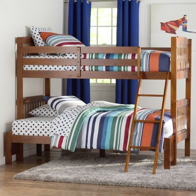 Theodore Twin over Full Bunk Bed Color: Mahogany
