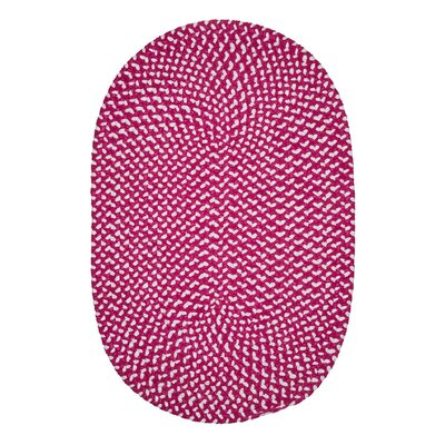 Gregg Hand-Woven Pink Area Rug Rug Size: Oval 4 x 6