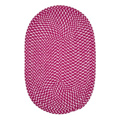 Gregg Hand-Woven Pink Area Rug Rug Size: Oval 3 x 5