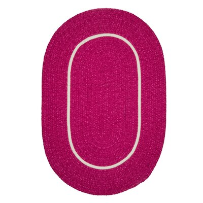 Jay Hand-Woven Pink Area Rug Rug Size: Round 4