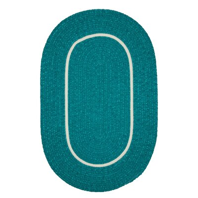 Jay Hand-Woven Teal Indoor/Outdoor Area Rug Rug Size: Oval 3 x 5