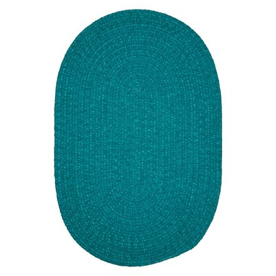 Jere Hand-Woven Teal Area Rug Rug Size: Oval 10 x 13