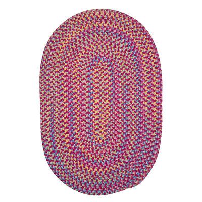 Brandon Hand-Woven Pink Area Rug Rug Size: Oval 2 x 4