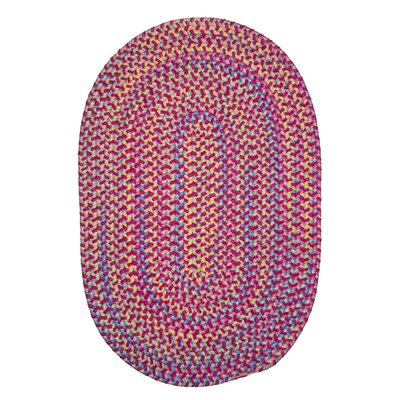 Oliver Hand-Woven Pink Area Rug Rug Size: Oval 7 x 9