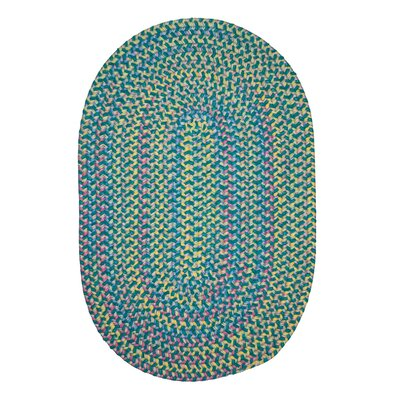 Brandon Hand-Woven Green Area Rug Rug Size: Round 8