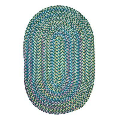 Brandon Hand-Woven Green Area Rug Rug Size: Oval 2 x 8