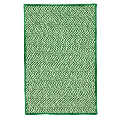 Surrency Houndstooth Tweed Hand-Woven Green Indoor/Outdoor Area Rug Rug Size: Rectangle 4 x 6
