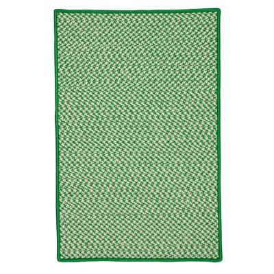 Surrency Houndstooth Tweed Hand-Woven Green Indoor/Outdoor Area Rug Rug Size: 2 x 4
