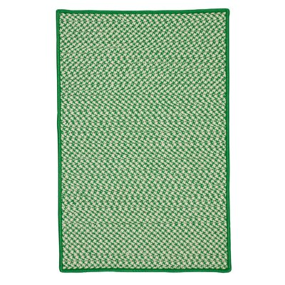 Horace Houndstooth Tweed Hand-Woven Green Indoor/Outdoor Area Rug Rug Size: 5 x 8