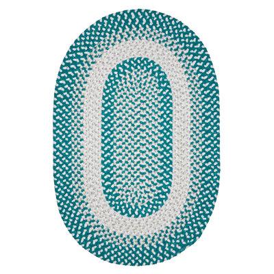 Tanya Hand-Woven Teal Area Rug Rug Size: Oval 2 x 8
