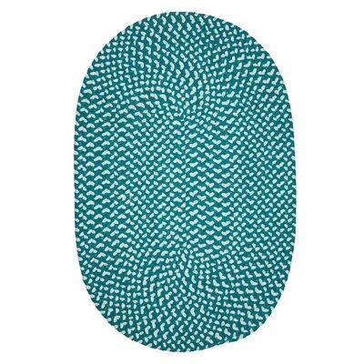 Gregg Hand-Woven Teal Area Rug Rug Size: Oval 2 x 6