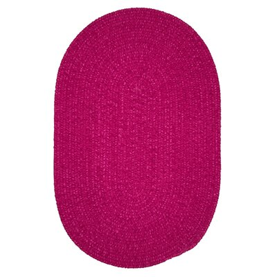 Jere Hand-Woven Pink Area Rug Rug Size: Oval 10' x 13'