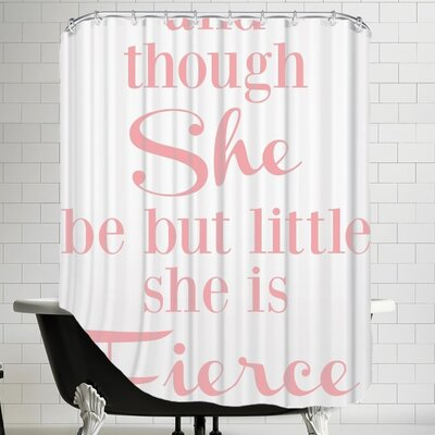 She Is Fierce V2 Shower Curtain Color: Pink