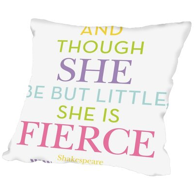 Tris She Is Fierce Throw Pillow Color: Multi, Size: 18 H x 18 W x 2 D