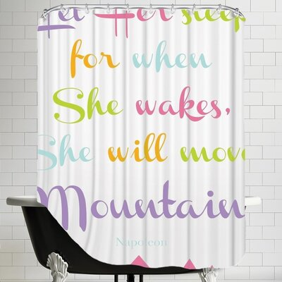 Tris Let Her Sleep Mountains Shower Curtain Color: Multi