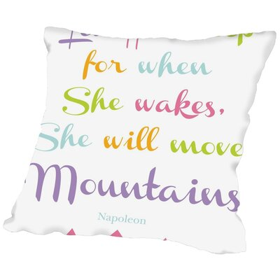 Tris Let Her Sleep Mountains Throw Pillow Size: 16 H x 16 W x 2 D, Color: Purple/Green