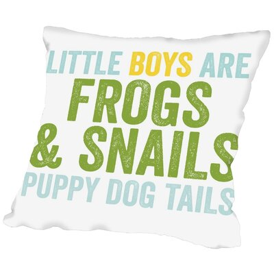 Frogs & Snails Throw Pillow Size: 16 H x 16 W x 2 D, Color: Blue Green